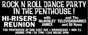 Rock N Roll Dance Party @ The Penthouse at One East Ave
